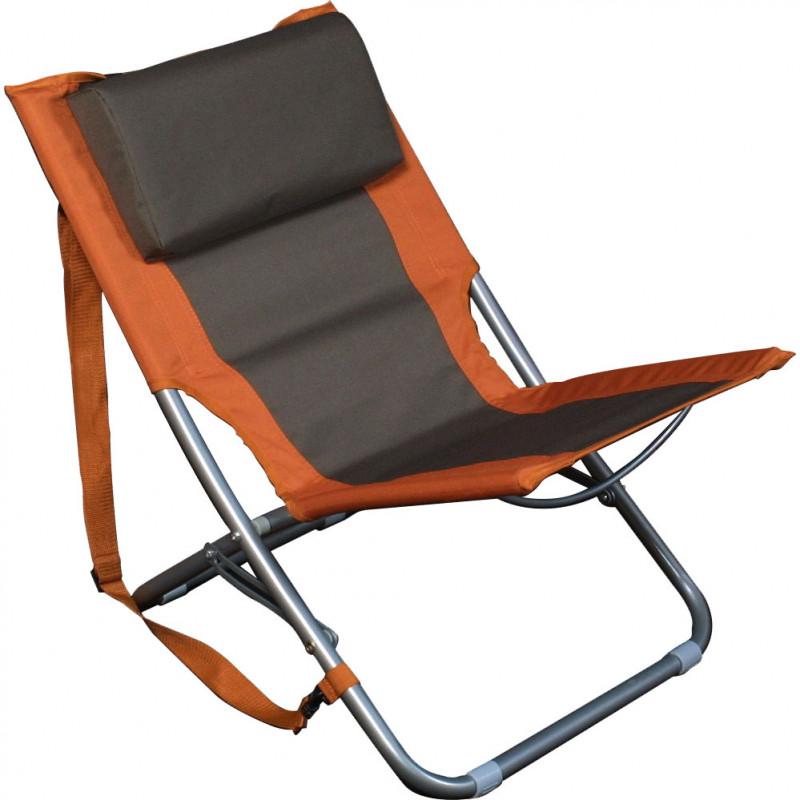 BasicNature Travelchair Beach orange steel