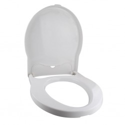 Toilet Seat with Lid Signal White