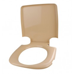 Toilet Seat with Lid PP 335 Grey White