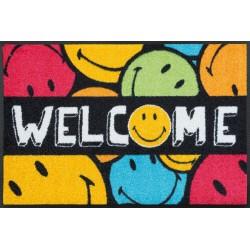 comfort mat, welcome smileys