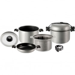 Aluminium Cooking Set with Stainless Steel Lid 4 Pieces