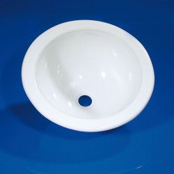 Round Sink Trough White 230 mm