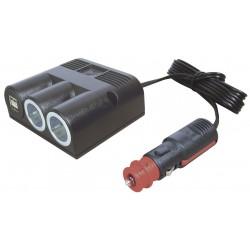 Tripple Socket Standard Power USB 2500 mA