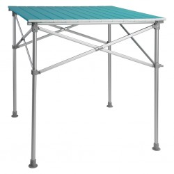 Aluminium Camping Table with Rollable Table Top Blue