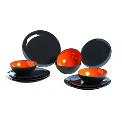 Tableware-Set Orange 12 Pieces