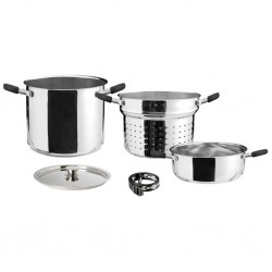 Stainless Steel Pot Set Academy 4 + 1
