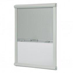 Insect Protection and Blackout Grey WhiteMini Double Cassette Blind, Skylight Blind 1302