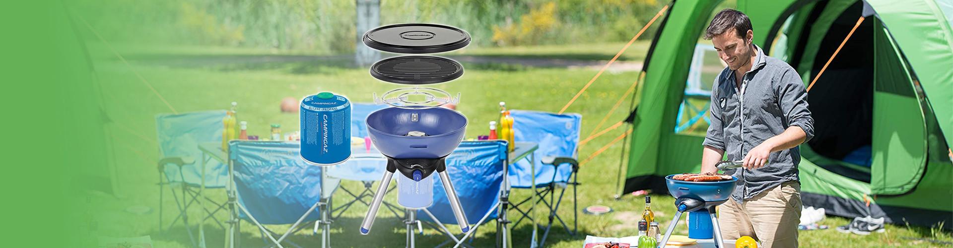 Φορητή ψησταριά υγραερίου Campingaz ιδανική για τα BBQ σας στο camping, στην παραλία, στην βεράντα, στον κήπο σας!